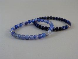 Armband Achat Blau