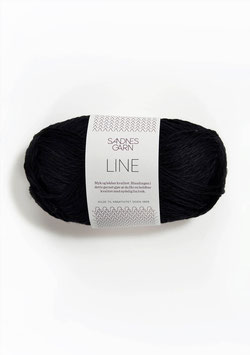 Sandnes Line Farbe 1099 Schwarz