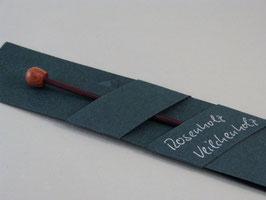 Tuchnadel, Veilchenholz, mit Abschlussknopf aus Rosenholz