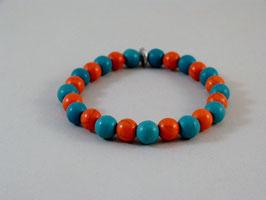 Armband Türkis-Orange No 2