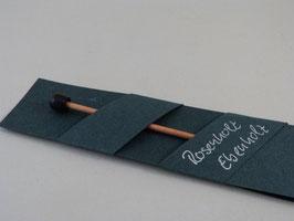 Tuchnadel, Rosenholz, mit Abschlussknopf aus Ebenholz