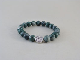 Armband - Jade - Grün/Grau