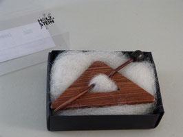 Tuchbrosche Dreieck Veilchenholz - Veilchenholz