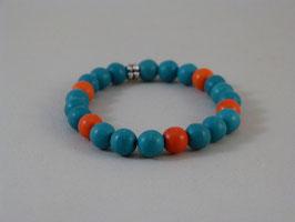 Armband Türkis-Orange