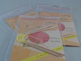 Neko Bambus - Flex Edition 3-Nadel-Strickspiel 3,0mm 2. Generation