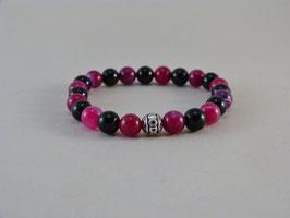 Armband Pink Achat & Onyx