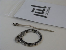 JUL Design Tuchbrosche - Celtic Lion Shawl Pin
