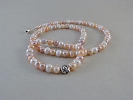 Armband und Halskette - Süßwasser-Zuchtperlen multicolor