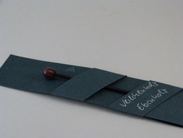Tuchnadel, Ebenholz, mit Abschlussknopf aus Veilchenholz