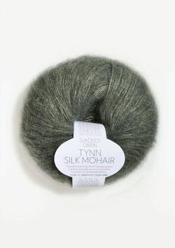 Sandnes Tynn Silk Mohair Fb 9071 Dunkles Staubgrün