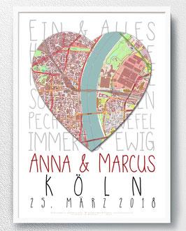 Zur Hochzeit - Typo + Map - ab 14,90 €