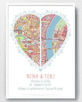 Hochzeit - Brautpaar, personalisiert