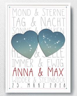 Hochzeit - Sternzeichen - ab 13,90 €