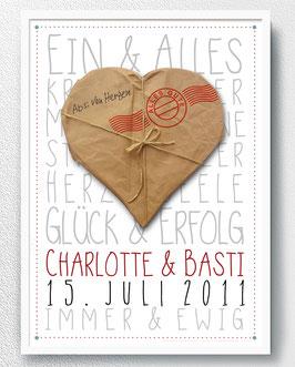 Poster für das Brautpaar - ab 13,90 €