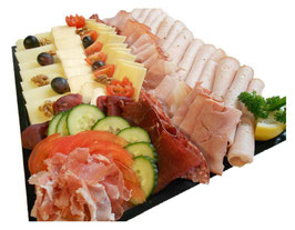 Fleisch und Käseplatte
