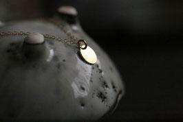Halskette vergoldetes Plättchen