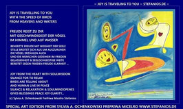 JOY AND PEACE IS TRAVELLING TO YOU / POSTER IN A4 GRÖSSE