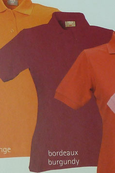 Polo bordeaux, 220 g/m² beste Qualität