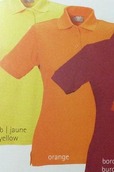 Polo orange, 220 g/m² beste Qualität