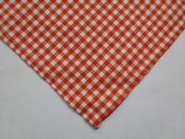 karo: orange/weiß