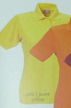 Polo gelb, 220 g/m² beste Qualität