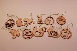 Osteranhänger Set mit 11 Stück