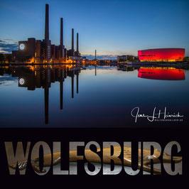 Kraftwerk mit Zeithaus und Wolfsburg-Schriftzug, Foto-Nr. Q1WOB