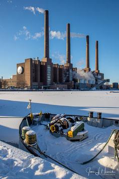 Mittellandkanal und Kraftwerk, Foto-Nr. 2021_02_0141