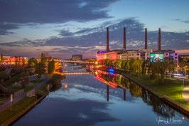 Foto mit Passepartout, Motiv siehe Foto, Bild-Nr. 2018_0728_Blick von Berliner Brücke