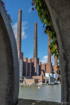 Foto mit Passepartout, Motiv siehe Foto, Bild-Nr. 2019_1193_Kraftwerk