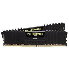Corsair CMK16GX4M2A2400C16 Vengeance LPX 16GB (2x8GB) DDR4 2400MHz C16 XMP 2.0 High Performance Desktop Arbeitsspeicher Kit, schwarz
