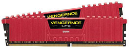 Corsair CMK8GX4M2B3200C16R Vengeance LPX 8GB (2x4GB) DDR4 3200MHz C16 XMP 2.0 High Performance Desktop Arbeitsspeicher Kit, rot