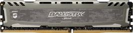 Ballistix Sport LT BLS8G4D240FSB 8GB DDR4 2400 MT/s PC4-19200 DR x8 DIMM 288-Pin Memory, grau