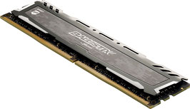 Ballistix Sport LT BLS8G4D26BFSB 8GB DDR4 2666 MT/s PC4-21300 DR x8 DIMM 288-Pin Memory, grau