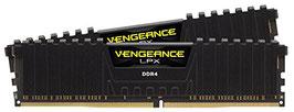 Corsair CMK16GX4M2A2400C14 Vengeance LPX 16GB (2x8GB) DDR4 2400MHz C14 XMP 2.0 High Performance Desktop Arbeitsspeicher Kit, schwarz