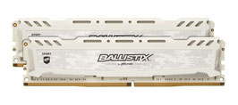 Ballistix Sport LT BLS2C4G4D240FSC 8GB Kit (4GB x 2) DDR4 2400 MT/s PC4-19200 SR x8 DIMM 288-Pin Memory, weiß