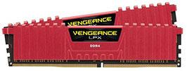 Corsair CMK8GX4M2B3200C16R Vengeance LPX 8GB (2x4GB) DDR4 3200MHz C16 XMP 2.0 High Performance Desktop Arbeitsspeicher Kit, rot