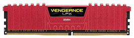 Corsair CMK16GX4M2B3000C15R Vengeance LPX 16GB (2x8GB) DDR4 3000MHz C15 XMP 2.0 High Performance Desktop Arbeitsspeicher Kit, rot