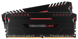 Corsair Vengeance LED 16GB (2x8GB) DDR4 3200MHz C16 XMP 2.0 Enthusiast LED-Beleuchtung Speicherkit, schwarz mit rot LED Beleuchtung