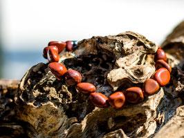 Armband Nuggets klein 10-12 mm Jaspis rot