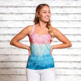 Yoga-Top indigo/peach  Neu!!!