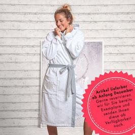 Damen-Bademantel mit Kaputze