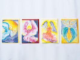 Engelkarte mit Umschlag