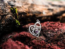 Spirituelle Liebe Anhänger mit Amethyst Stein