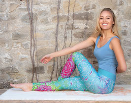 Bunte Yoga-Leggings