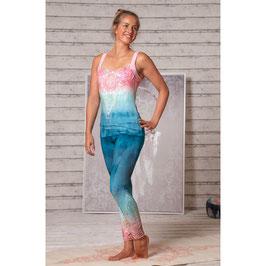 Yoga-Legging indigo/pesch  Neu!!!