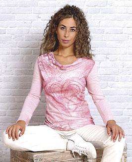 Blusenshirt Buddha-Herz langarm