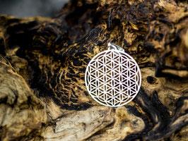 Blume des Lebens versilbert mit 19 Swarovski Steinen