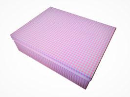 SCATOLA QUADRETTI ROSA / PINK CHEQUES BOX