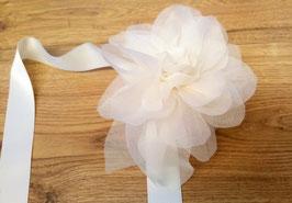 bracciale fiori di organza - organza flowers bracelet